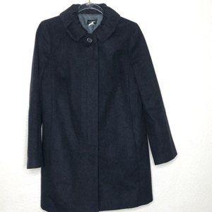 J Crew Taryn Black Peacoat Sz 4 100% Wool